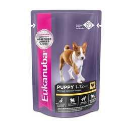 Eukanuba Puppy паучи для щенков (0,085 кг) 24 шт