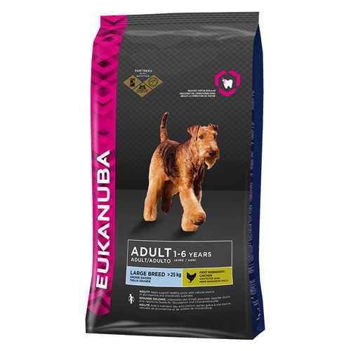 Эукануба сухой корм для взрослых собак крупных пород 3 кг
