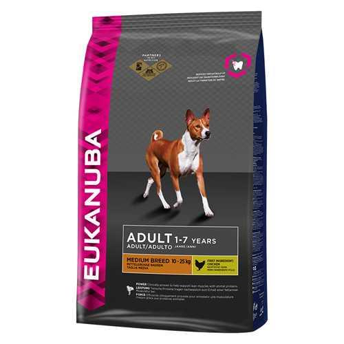 Эукануба сухой корм для взрослых собак средних пород 3 кг