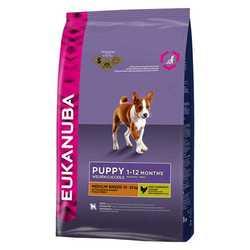 Eukanuba Puppy Medium корм для щенков средних пород 15 кг
