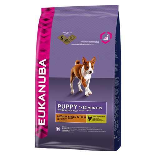 Эукануба сухой корм для щенков средних пород 3 кг