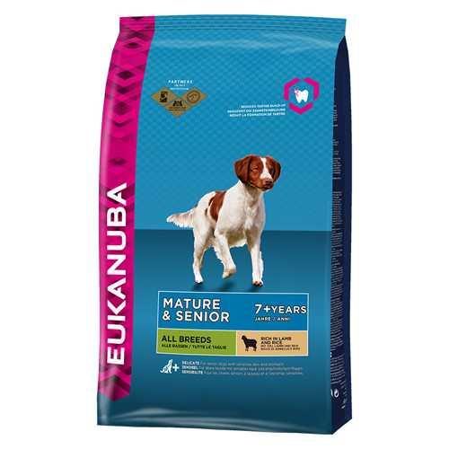 Эукануба сухой корм ягненок с рисом для пожилых собак 2,5 кг
