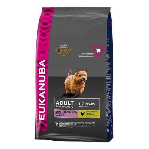 Эукануба сухой корм для взрослых собак мелких пород 3 кг