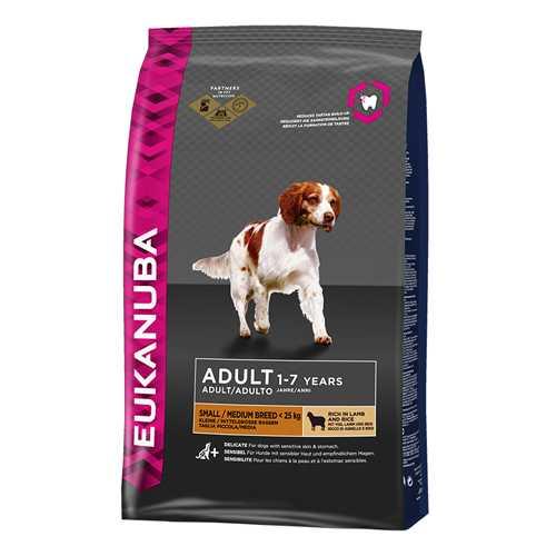 Эукануба сухой корм для собак мелких и средних пород ягненок с рисом 2,5 кг