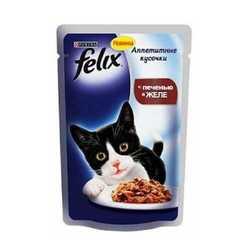 Феликс паучи для кошек с печенью в желе (0,085 кг) 24 шт