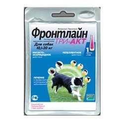 Frontline Tri-Act капли для собак 10-20 кг