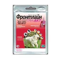 Frontline Tri-Act капли для собак 40-60 кг