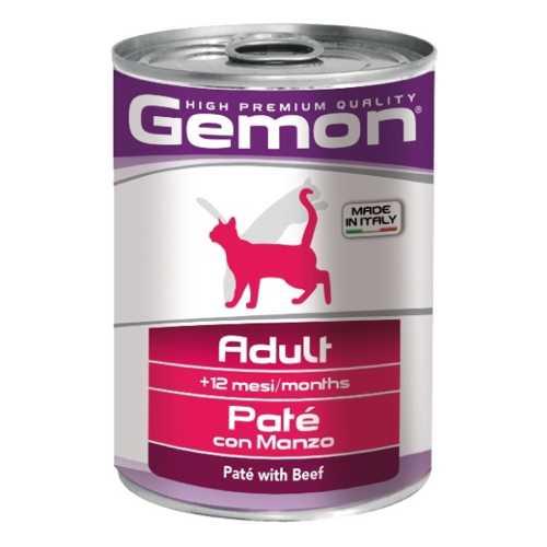 Gemon Cat консервы для кошек паштет говядина (0.40 кг) 12 шт.