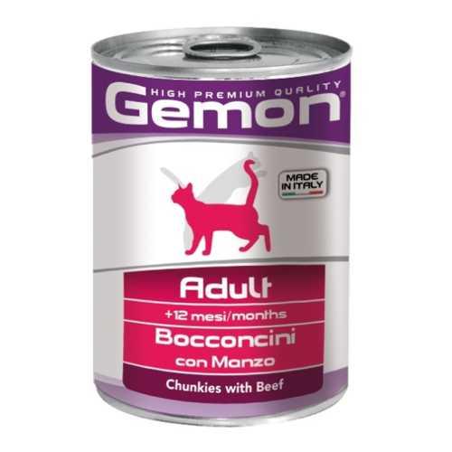 Gemon Cat консервы для кошек кусочки говядины (0.41 кг) 12 шт.