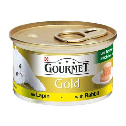 Gourmet Gold mousse Rubbit | Консервы Гурме Голд для кошек паштет с кроликом (24 шт х 85 гр)