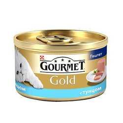 Gourmet Gold Mousse Tuna | Консервы Гурме Голд для кошек паштет с тунцом (24 шт х 85 гр)