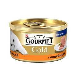 Gourmet Gold Mousse Turkey   Консервы Гурме Голд для кошек паштет с индейкой (24 шт х 85 гр)