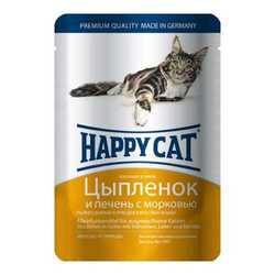 Хэппи Кет для кошек с курицей и печенью (0,1 кг) 22 шт