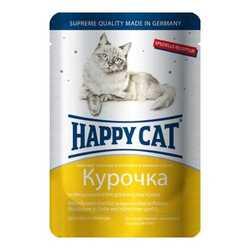 Хэппи Кет паучи для кошек с курицей (0,1 кг) 22 шт