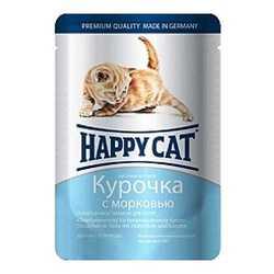 Хэппи Кет паучи для котят с курицей  (0,1 кг) 22 шт