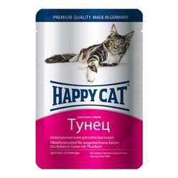 Хэппи Кет паучи для кошек с тунцом (0,1 кг) 22 шт