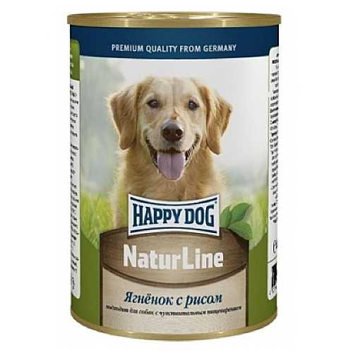 Хэппи Дог консервы для собак с ягненком и рисом (0,4 кг) 20 шт