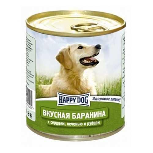 Хэппи Дог консервы для собак с бараниной, сердцем и рубцом (0,75 кг) 12 шт
