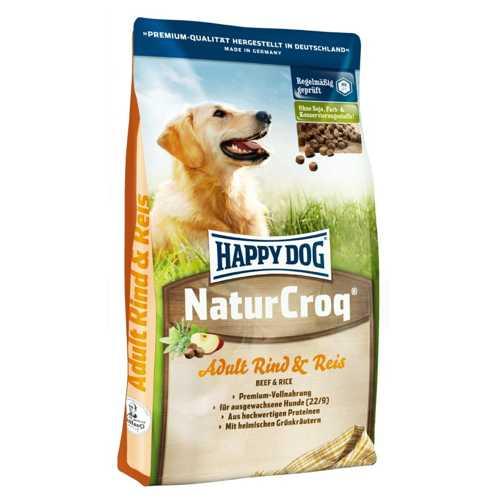 Хэппи Дог НатурКрок для взрослых собак с говядиной и рисом 4 кг