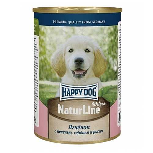 Хэппи Дог консервы для щенков с ягненком, сердцем и рисом (0,4 кг) 20 шт