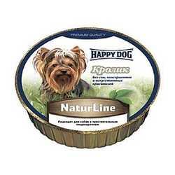 Хэппи Дог консервы для собак с кроликом (0,085 кг) 16 шт