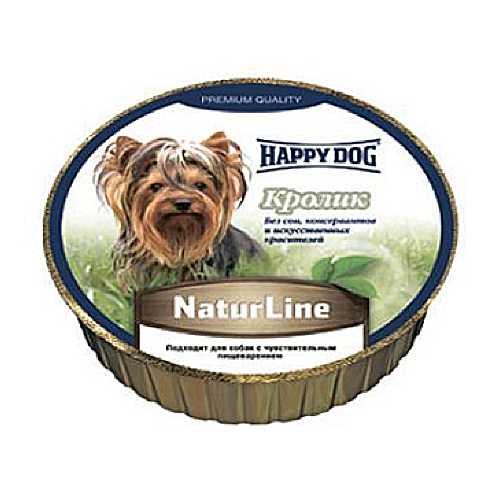 Хэппи Дог консервы для собак с кроликом (0,125 кг) 16 шт