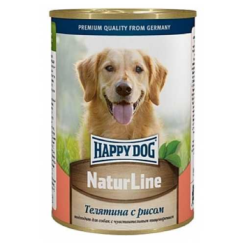 Хэппи Дог консервы для собак с телятиной и рисом (0,4 кг) 20 шт