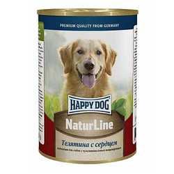 Хэппи Дог консервы для собак с телятиной и сердцем (0,4 кг) 20 шт