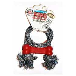 """Kong игрушка для собак """"Косточка"""" с канатом очень маленькая 8 см"""