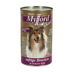 My Lord Classic консервы для собак с кроликом и сердцем (1,24 кг) 12 шт