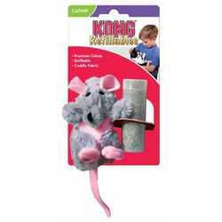 """Kong игрушка для кошек """"Крыса"""" плюш с тубом кошачьей мяты"""