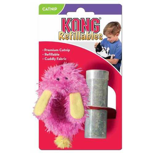 """Kong игрушка для кошек """"Тапочек"""" текстиль с тубом кошачьей мяты"""