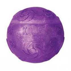 Kong игрушка для собак Squezz Crackle хрустящий мячик большой 7 см