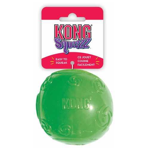 Kong игрушка для собак Сквиз Мячик очень большой резиновый с пищалкой