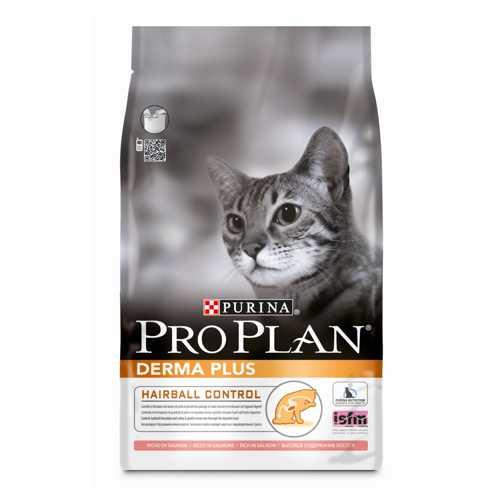 Pro Plan Derma Plus | Сухой корм Про План для кошек с проблемами кожи и шерсти 1,5 кг