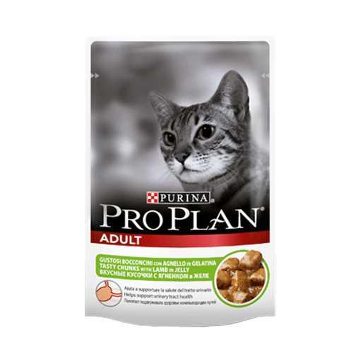 Pro Plan with Lamb | Паучи Про План для кошек с ягненком (24 шт х 85 гр)