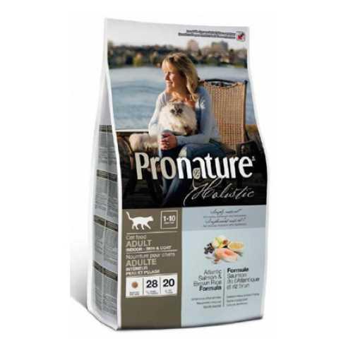 Пронатюр Холистик сухой корм для кошек лосось с рисом 5.44 кг