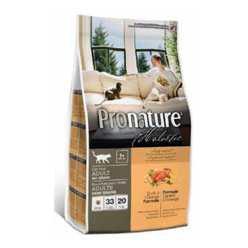 Пронатюр Холистик сухой корм для кошек утка с апельсином 5.44 кг