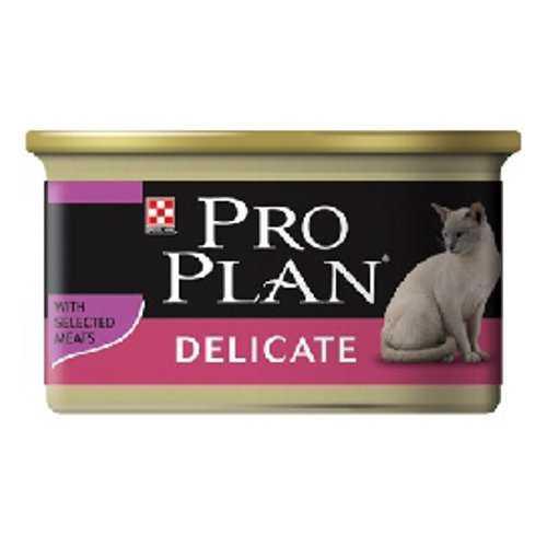 Pro Plan Delicate | Консервы Про План для взрослых кошек с чувствительным пищеварением (24 шт х 85 гр)