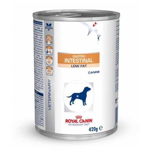 Royal Canin Gastro Intestinal Low Fat | Консервы Роял Канин при нарушениях пищеварения (12 шт х 410 г)