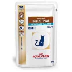 Royal Canin Gastro Intestinal Moderate Calorie | Паучи Роял Канин для кошек при нарушениях пищеварения (12 шт х 100 г)