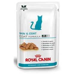 Royal Canin Skin & Coat | Паучи Роял Канин для кошек с повышенной чувствительностью кожи (12 шт х 100 г)