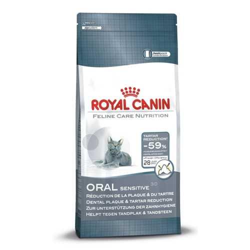 Royal Canin Oral Sensitive | Сухой корм Роял Канин для кошек для профилактики образования зубного налета и зубного камня 1,5 кг