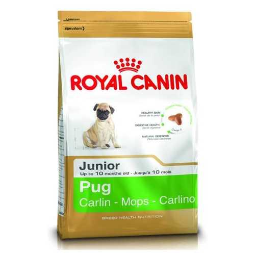 Royal Canin Pug Junior   Сухой корм Роял Канин для щенков породы Мопс 1,5 кг