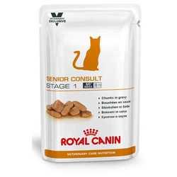 Royal Canin Senior Consult Stage 1 | Паучи Роял Канин Сеньор Консалт Стэйдж 1 для котов и кошек старше 7 лет (12 шт х 100 г)