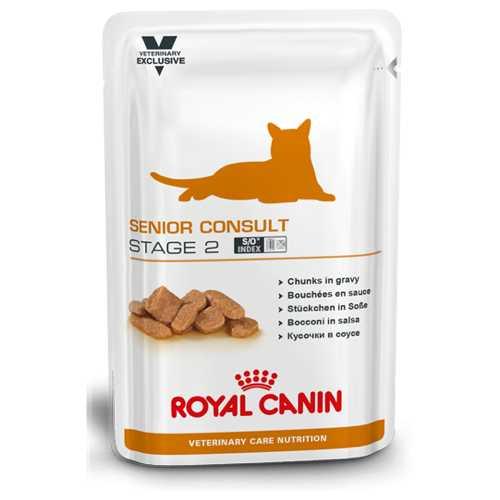 Royal Canin Senior Consult Stage 2 | Паучи Роял Канин Сеньор Консалт Стэйдж 2 для котов и кошек старше 7 лет (12 шт х 100 г)