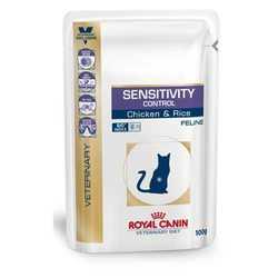 Royal Canin Sensitivity Control | Паучи Роял Канин для кошек при пищевой аллергии (12 шт х 100 г)