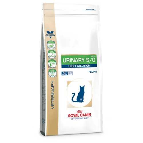 Royal Canin Urinary S/O High Dilution | Сухой лечебный корм Роял Канин для кошек при лечении мочекаменной болезни 1,5 кг