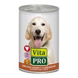 Vita Pro консервы для собак с говядиной (0,40 кг) 6 шт