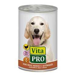 Vita Pro консервы для собак с курицей 400 гр х 6 шт